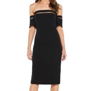 Bardot sacha diamond lattice trim sheath dress